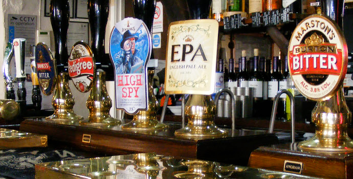 Fine selection of Real Ales at Ye Olde Red Lion